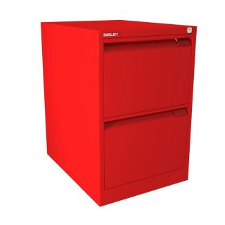 Bisley Filing Cabinet - 2 Drawer - Cardinal Red - BSFF