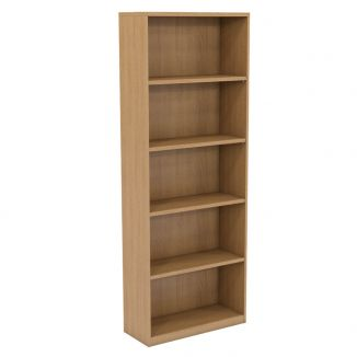 Concept Wooden Office Bookcase - 2141mm