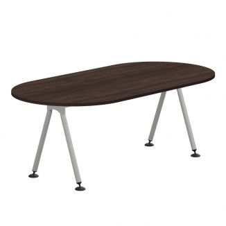 D Ended Meeting Table - A Frame Legs