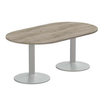 D Ended Meeting Table - Trumpet Legs