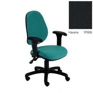 Fabric Office Chair with High Back - Adjustable Arms