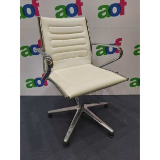 Second Hand Sitland Leather Boardroom Chairs - Set of 12
