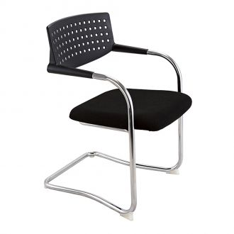 Oppenheim Visitor Chair - Black Seat