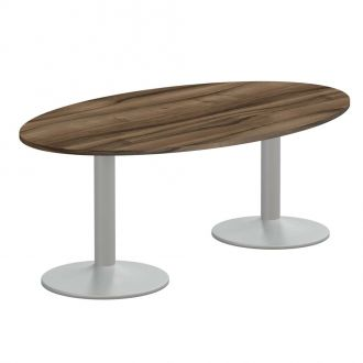 Oval Meeting Table - Trumpet Legs