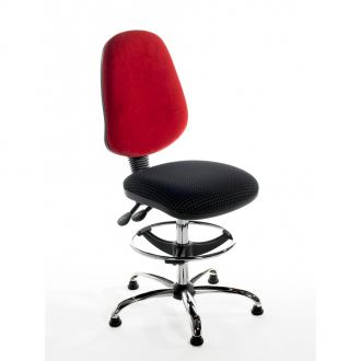Draughtsman Chair with High Back - Chrome Base