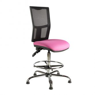 Draughtsman Chair with Mesh Back - Chrome Base