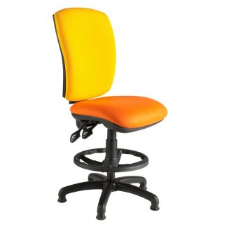 Draughtsman Chair with Square Back