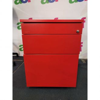 Second Hand Techo Red 3 Drawer Pedestal