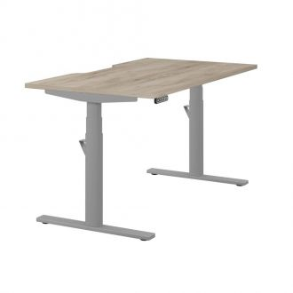 Unite Memory Electric Height Adjustable Desk - Silver Frame