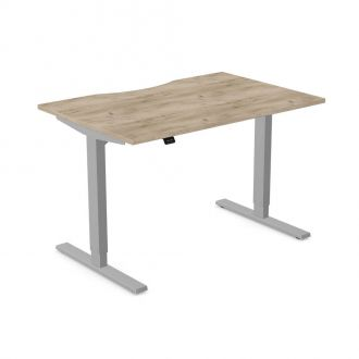 Unite Contract Height Adjustable Desk - Silver Frame