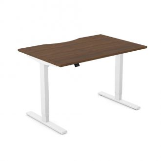 Unite Contract Height Adjustable Desk - White Frame