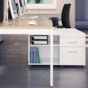 Clean & Clear! White Office Storage
